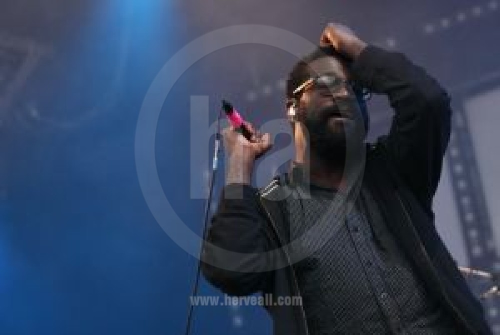 Tunde Adebimpe live Tv on the radio